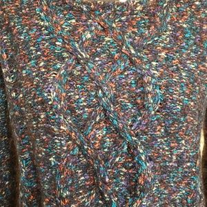 Quinn Sweaters - Quinn Multi Colored Mohair/Wool Blend Sweater XS S